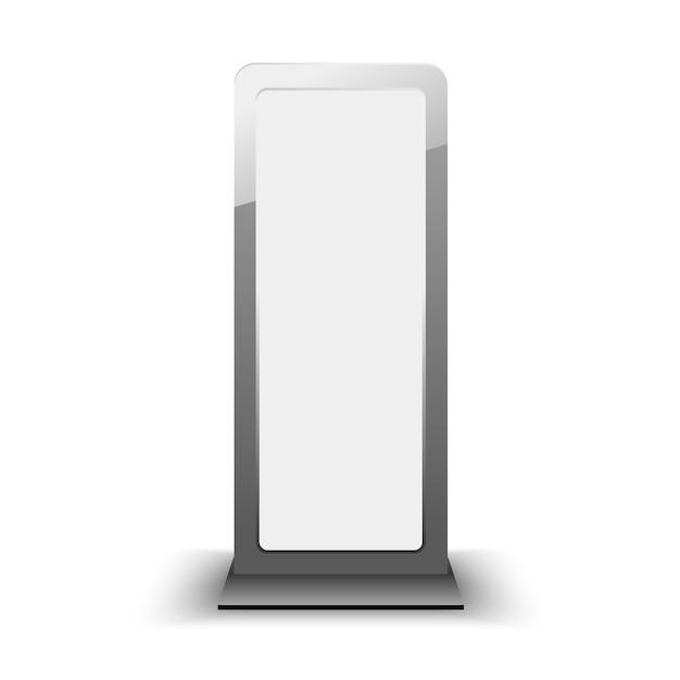 Plantilla de lightbox de ciudad en blanco. cartelera en blanco y plantilla de publicidad exterior. elemento en. Vector Premium