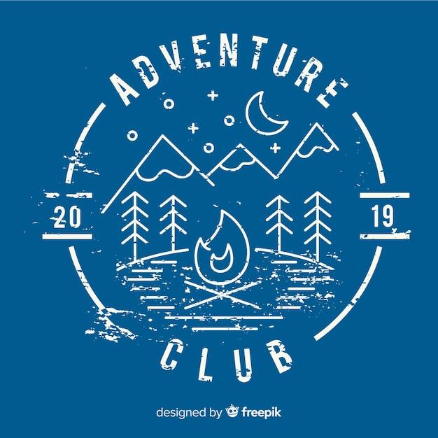 Plantilla de logo de aventura vintage vector gratuito