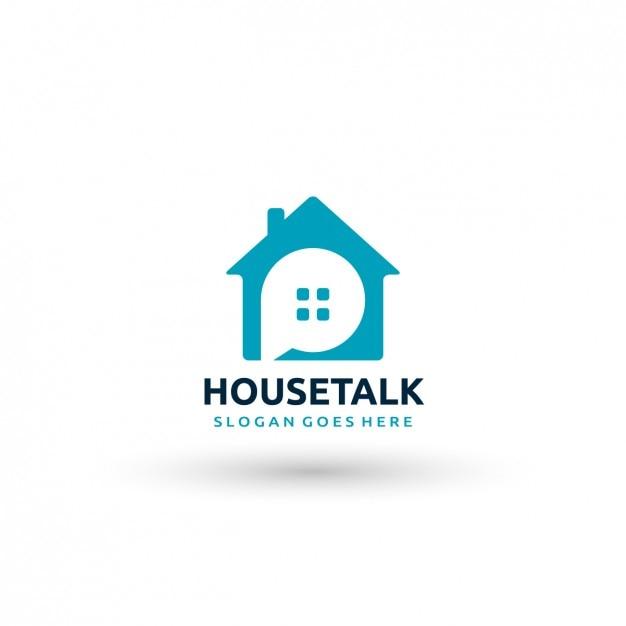 Plantilla de logo de casa vector gratuito