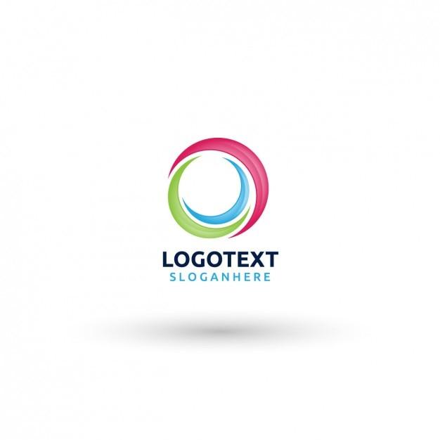 Plantilla de logo circular vector gratuito