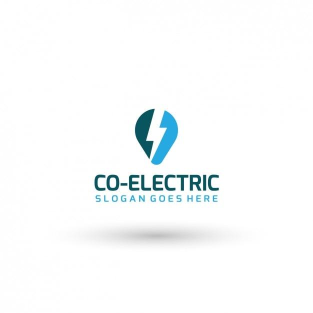 Plantilla de logo de compañía eléctrica vector gratuito