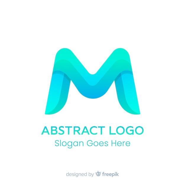 Plantilla de logo degradado con forma abstracta vector gratuito