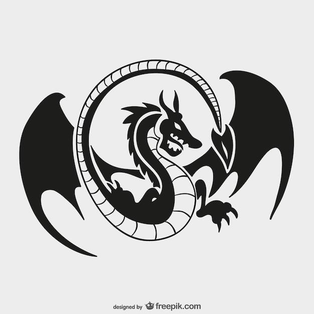 Plantilla de logo de dragón vector gratuito