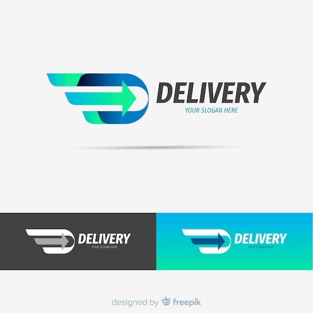 Plantilla de logo de envíos abstracto vector gratuito