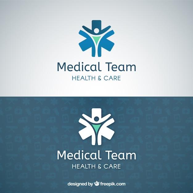 Plantilla de logo de equipo médico Vector Premium