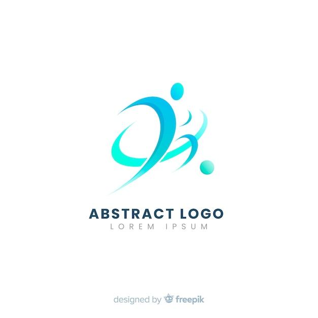 Plantilla de logo o logotipo abstracto con temática de deporte y fútbol vector gratuito