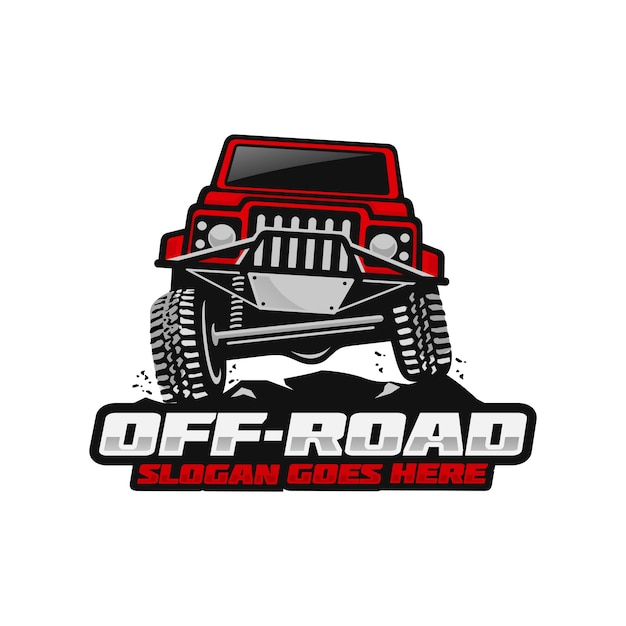 Plantilla de logo off road Vector Premium