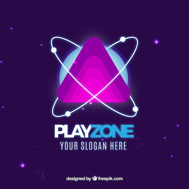 Plantilla de logo de videojuego con estilo moderno Vector Premium