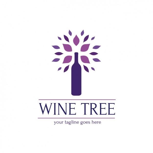 Plantilla de logo de vino vector gratuito