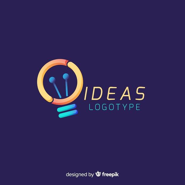 Plantilla de logotipo abstracto colorido vector gratuito