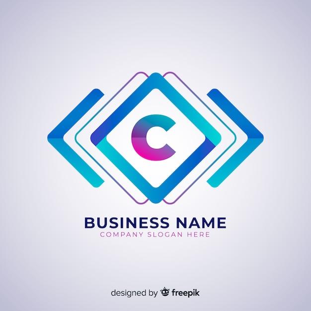 Plantilla de logotipo abstracto en estilo degradado vector gratuito