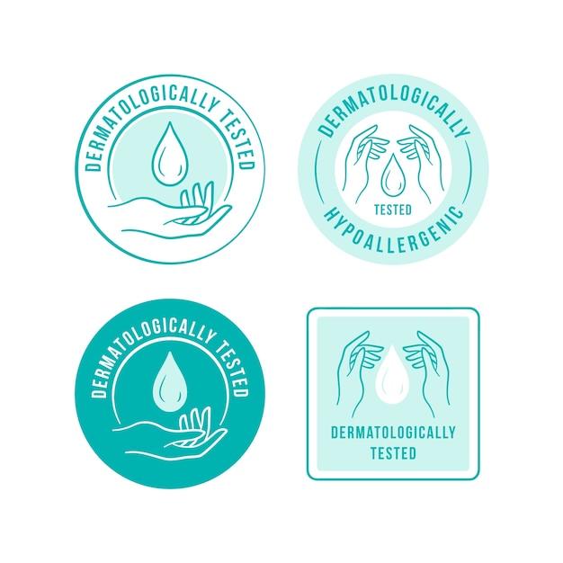 Plantilla de logotipo antibacteriano azul vector gratuito
