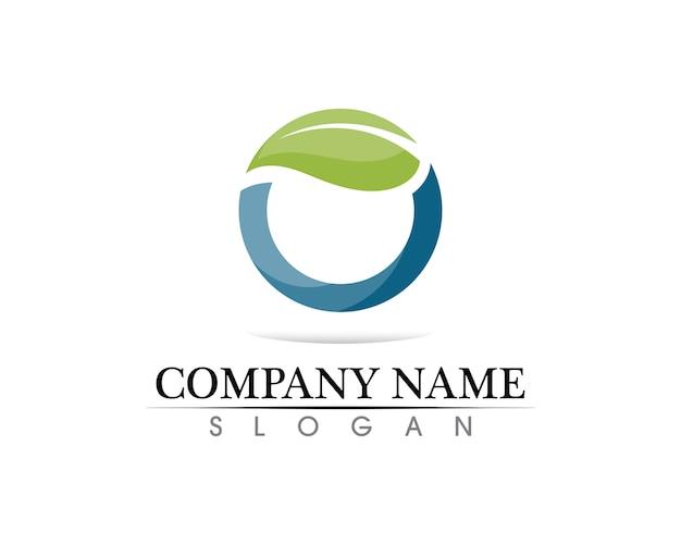 Plantilla de logotipo de círculo de tecnología Vector Premium