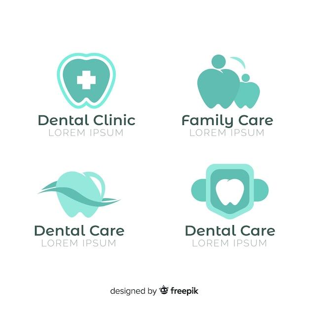 Plantilla de logotipo para clínica dentista vector gratuito