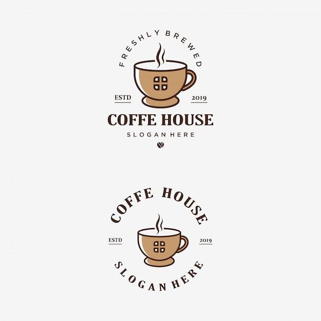 Plantilla de logotipo de coffee house Vector Premium