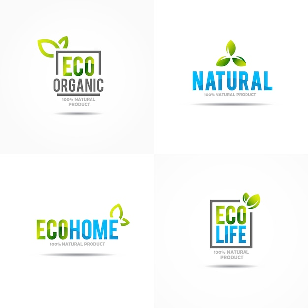 Plantilla de logotipo de concepto de casa verde creativa vector gratuito