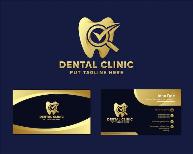 Plantilla de logotipo de cuidado dental de lujo premium Vector Premium