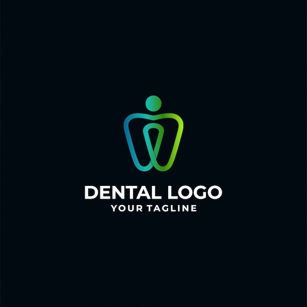 Plantilla de logotipo dental Vector Premium