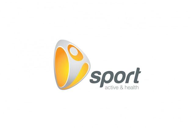 Plantilla de logotipo deportivo activo vector gratuito