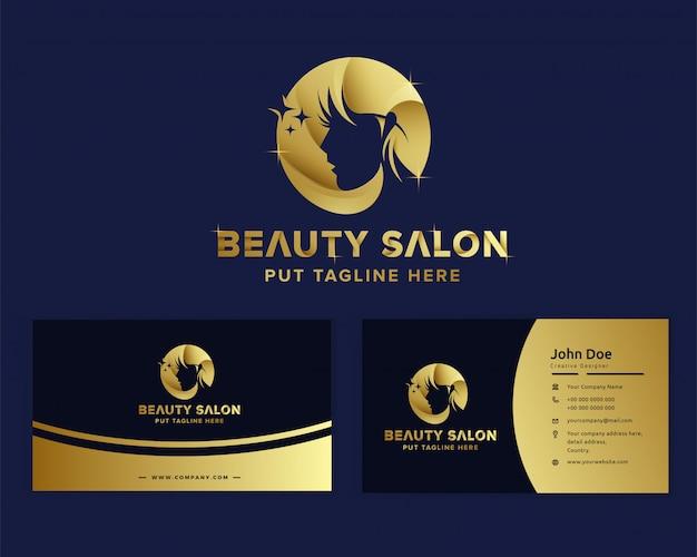 Plantilla de logotipo femenino de belleza de lujo premium Vector Premium