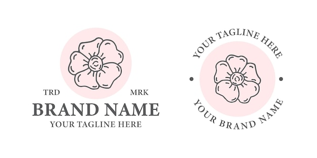 Plantilla de logotipo de flor Vector Premium