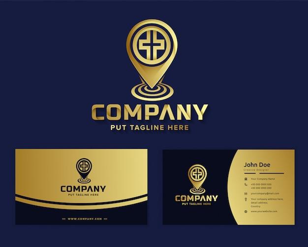Plantilla de logotipo de hospital médico de lujo premium para empresa Vector Premium