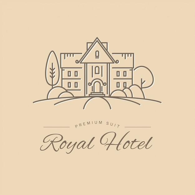 Plantilla de logotipo de hotel. Vector Premium