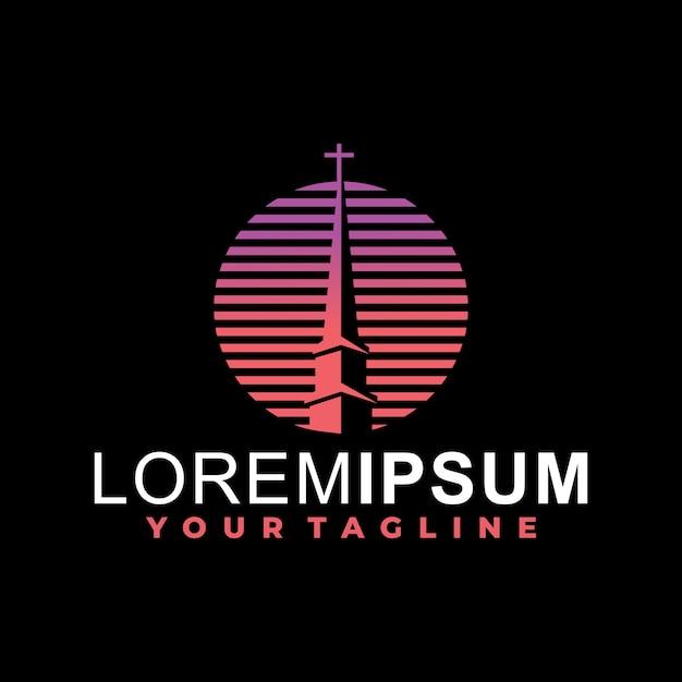 Plantilla de logotipo de iglesia Vector Premium
