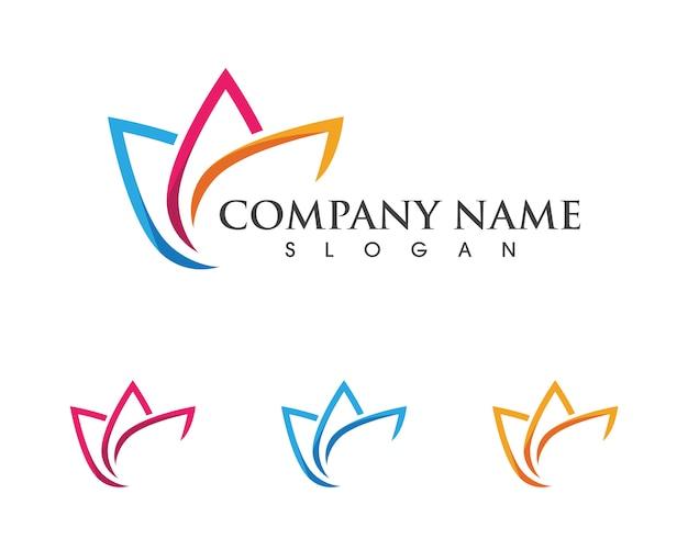 Plantilla de logotipo de lotus Vector Premium
