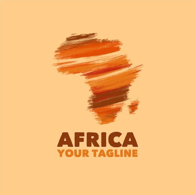 Plantilla de logotipo de mapa de áfrica Vector Premium
