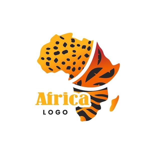 Plantilla de logotipo de mapa de áfrica vector gratuito