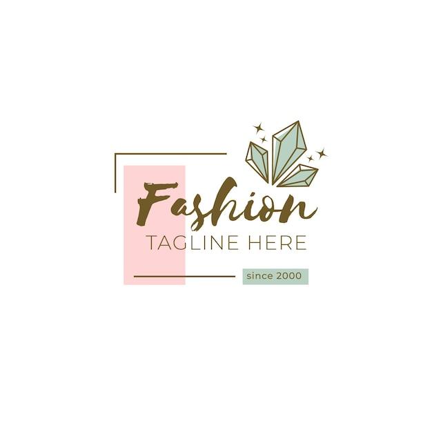 Plantilla de logotipo de marca de moda con lema vector gratuito