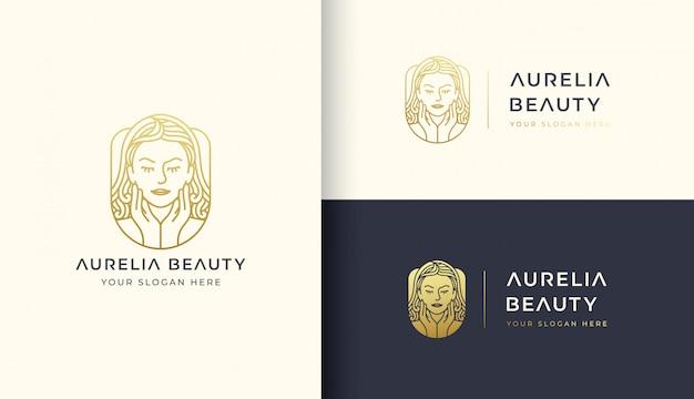Plantilla de logotipo de mujer de belleza Vector Premium