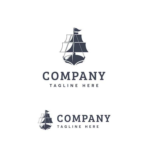Plantilla de logotipo de la nave Vector Premium
