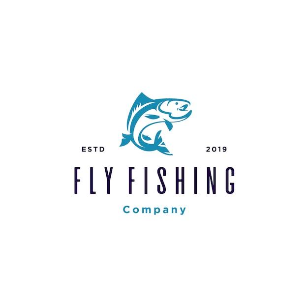 Plantilla de logotipo de pesca Vector Premium