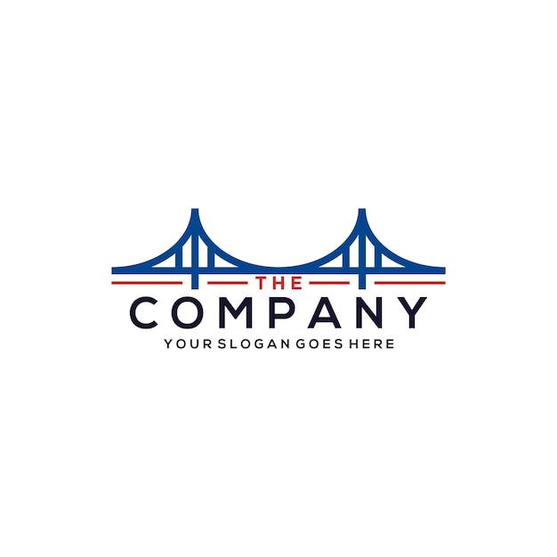 Plantilla de logotipo de puente Vector Premium