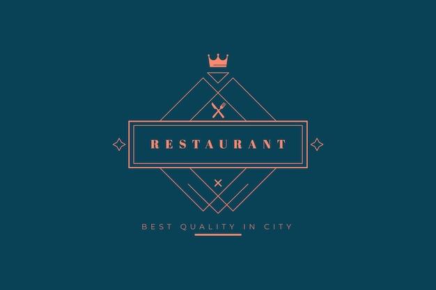 Plantilla de logotipo de restaurante vector gratuito