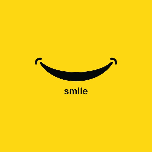 Plantilla de logotipo de sonrisa Vector Premium
