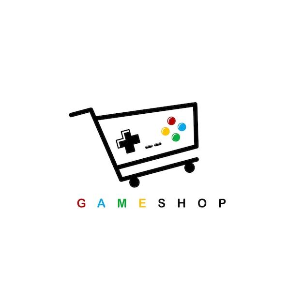 Plantilla De Logotipo De Tema De Tienda De Videojuegos Descargar