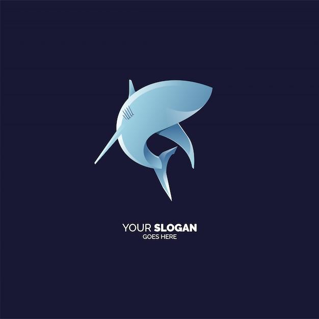 Plantilla de logotipo de tiburón Vector Premium