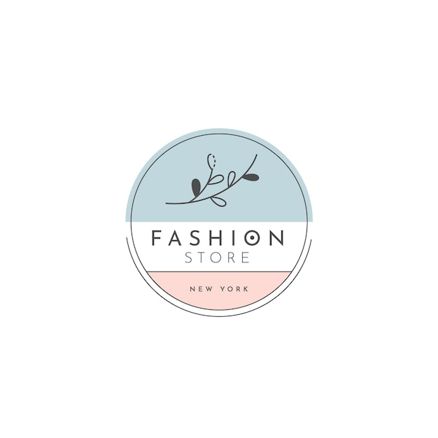 Plantilla de logotipo de tienda de moda vector gratuito
