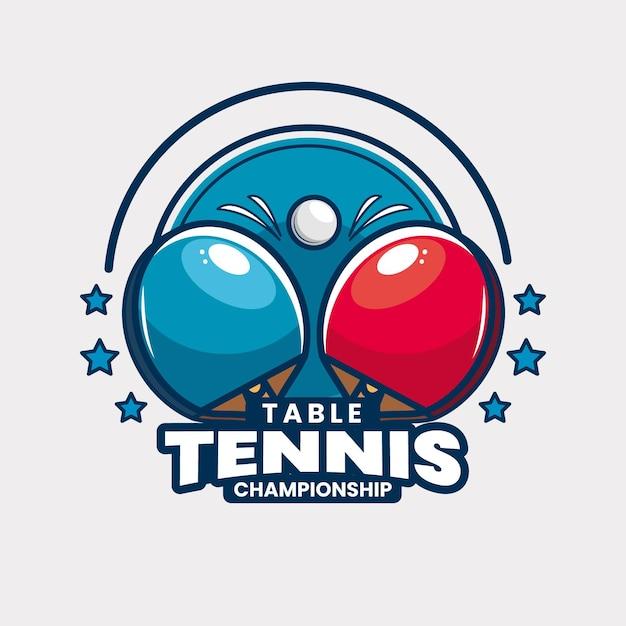 Plantilla de logotipo de torneo de tenis de mesa vector gratuito