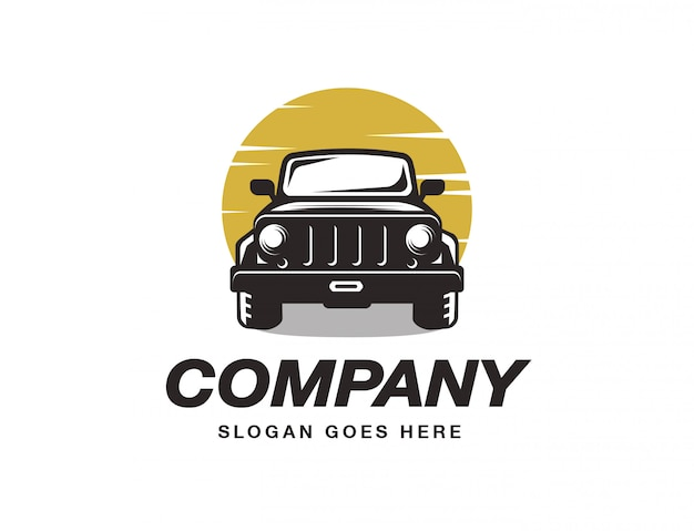Plantilla de logotipo de vehículo suv Vector Premium