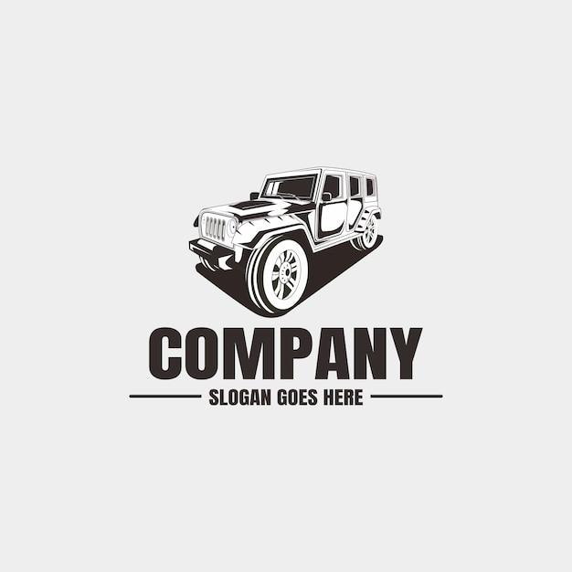 Plantilla de logotipo del vehículo Vector Premium