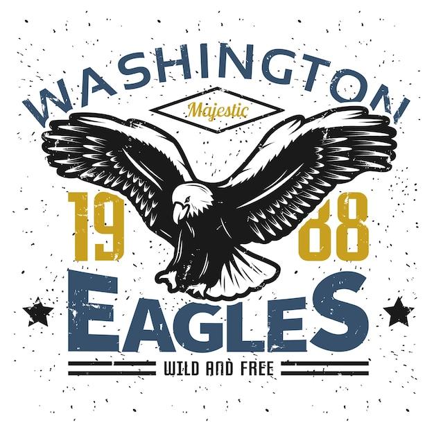 Plantilla de logotipo vintage american eagle vector gratuito