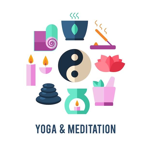 Plantilla de logotipo de yoga. vector gratuito
