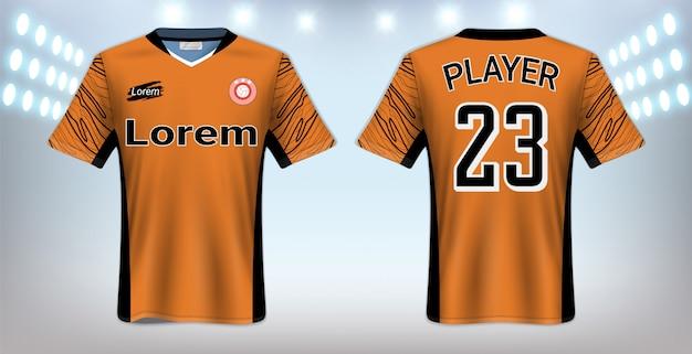 Plantilla de maqueta deportiva de camiseta de fútbol Vector Premium