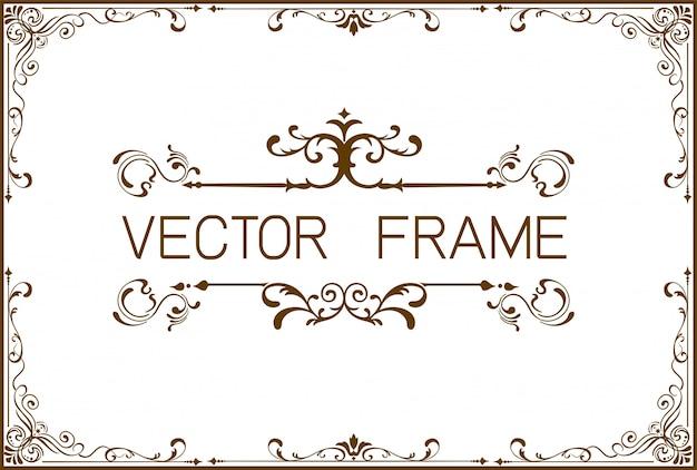 Plantilla de marco de borde dorado de certificado Vector Premium