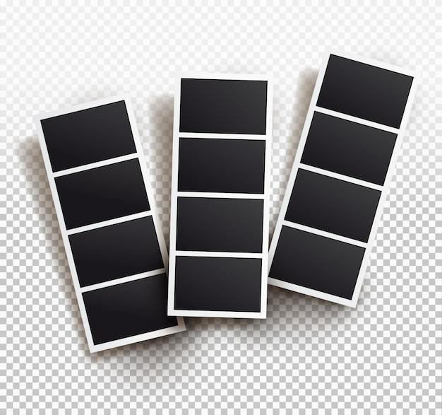 Plantilla de marco cuadrado con sombras, plantillas. Vector Premium