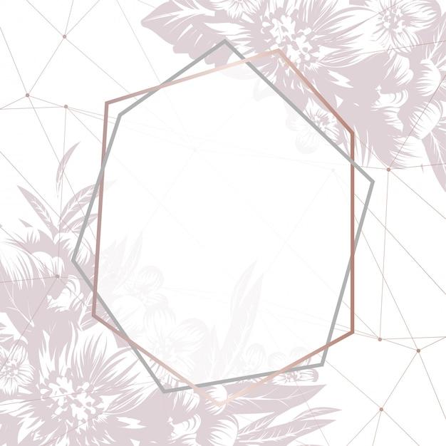 Plantilla de marco de flores. vector gratuito